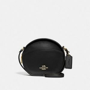 New Coach Canteen Black Leather Cross Body Bag
